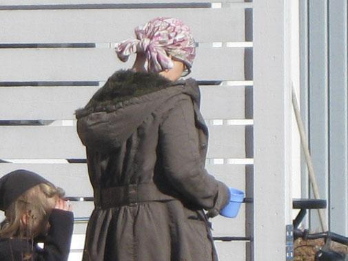 Maria i vinterkappa