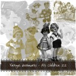 Vintage bookmarks - 40s Children II - preview